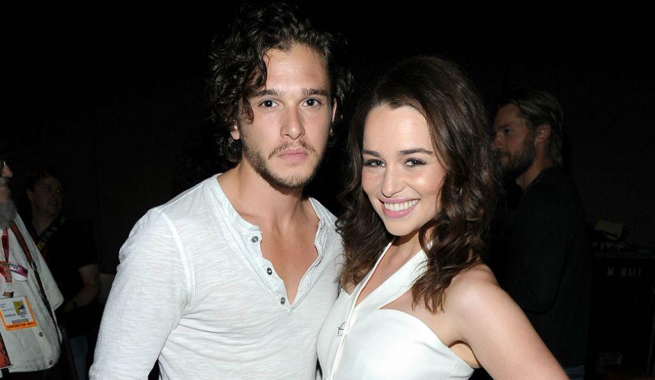 Kit Harington and Emilia Clarke Are Cute in Real Life