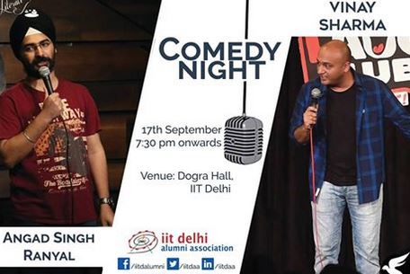 Comedy Night Event Delhi 17 September 2017