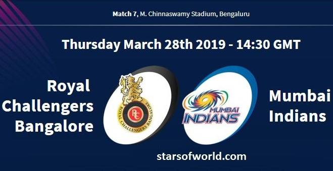 RCB VS MI: Match 7, Preview, Time, Venue, Fixture, Date, IPL Live Streaming, Live Score, Prediction