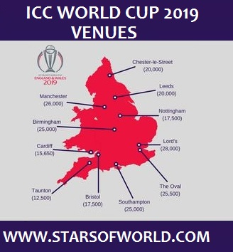 ICC World Cup 2019 Venues, Location, Grounds, Capacity